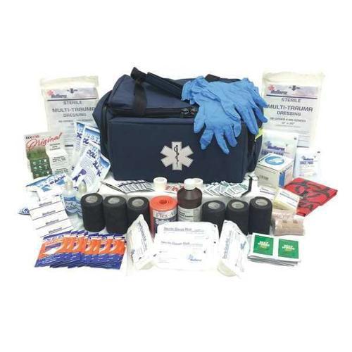 MEDSOURCE MS-75145 First Responder Kit,Navy,26 Components G2679260