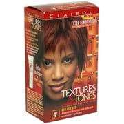 Clairol Textures & Tones 4R Red Hot Red, 1 ea (Pack of 3)