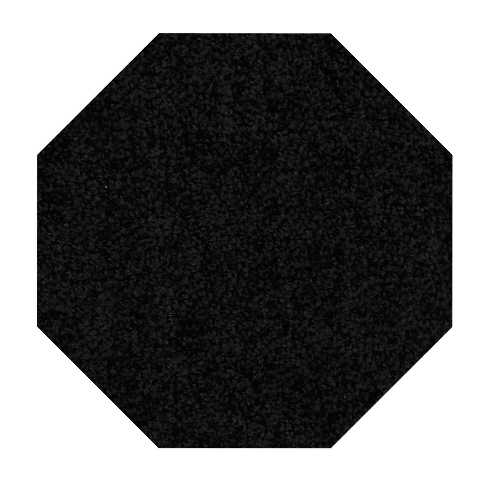 Home Queen Solid Color Black 6' Octagon - Area Rug