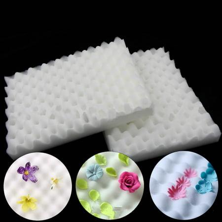 - 2Pcs Foam Dry Pads Drying Sponge Mats Cake Fondant Sugar Flower Tool Kitchen DIY