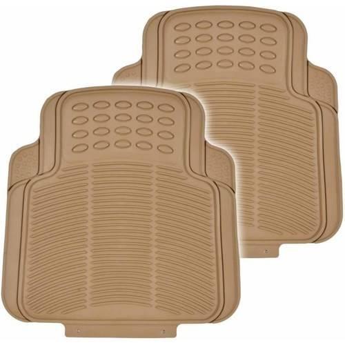 BDK Utility Floor Mats for Car, Home, Garage, Trimmable Semi Custom Fit, Black Beige Gray
