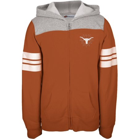 Texas Longhorns - Rhinestone Rays Logo Girls Youth Zip Hoodie](Minecraft Zip Up Hoodie Youth)