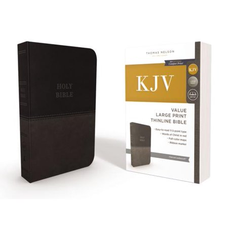 KJV, Thinline Bible, Large Print, Imitation Leather, Red Letter