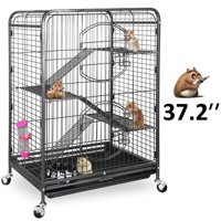 "ZENSTYLE 37"" Ferret Cage Rabbit Guinea Pig Chinchilla Rat Small Animal House 4 Levels"