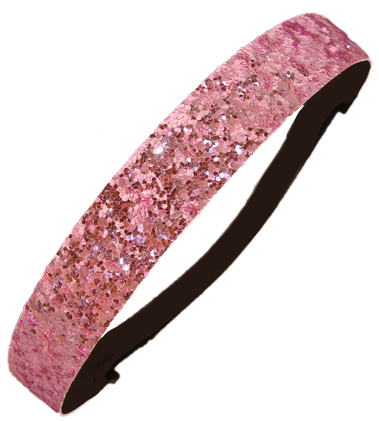 Kenz Laurenz Glitter Headband Girls Headband Sparkly Hair Head Band Light Pink