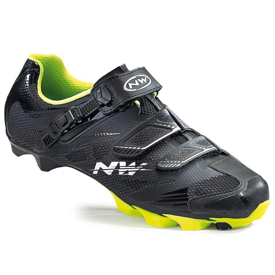 Northwave, Scorpius 2 SRS, MTB shoes, Black/Yellow Fluo, 46