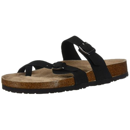 - Skechers Womens Granola Leather Split Toe Casual Slide Sandals