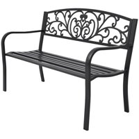 Garden Bench Black Cast Iron