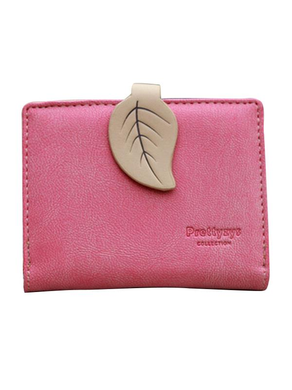 Meigar Women Long Leather Purse Leaf Style Wallets Bags Card Holder