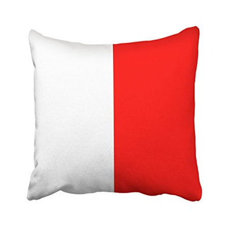 WinHome Square Throw Pillow Covers International Maritime Signal Flag Letter Nautical Pillowcases Polyester 18 X 18 Inch With Hidden Zipper Home Sofa Cushion Decorative Pillowcase - Nautical Supply International