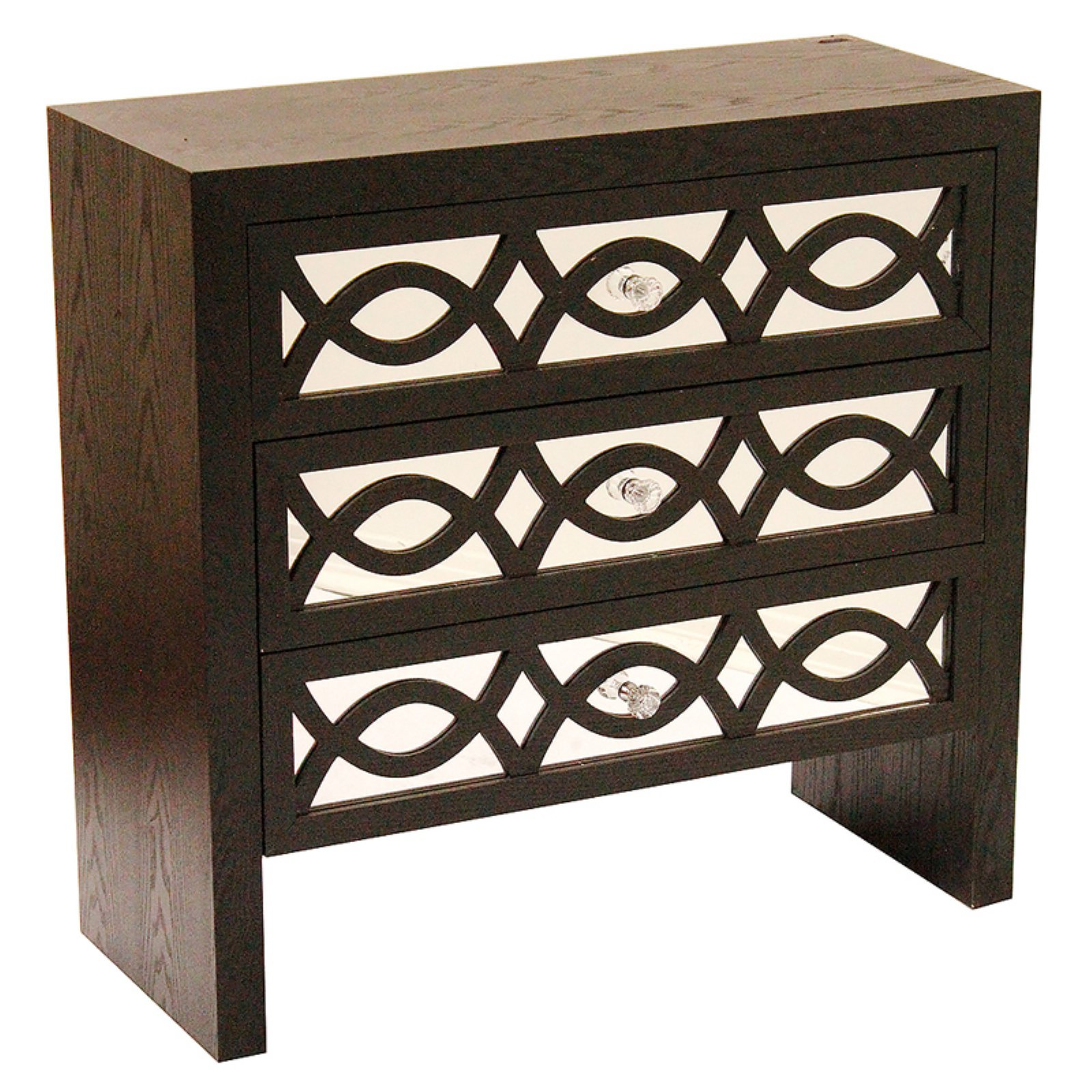 Heather Ann Creations Ellington Collection 3 Drawer Cabinet Console Table