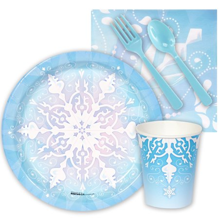 Winter Wonderland Birthday (Snowflake Winter Wonderland Snack Party)