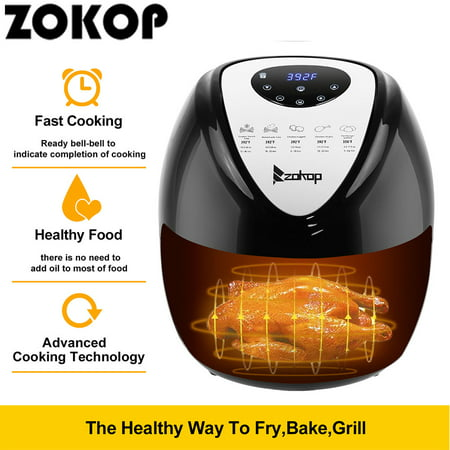 Programmable Air Fryer, 5.6QT Air fryer Oven Oilless Cooker for Fast Healthier Food, 7 Cooking Presets and Heat Preservation Function Air Fryer for Family Home Use - LCD Touch Screen ()
