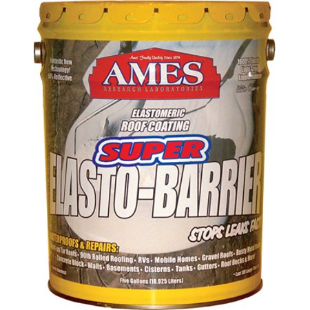 Ames Super Elasto-Barrier Liquid Rubber Basecoat for Roofs and Roof Decks 5 gallon Grey