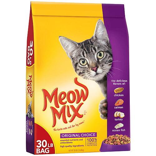 Meow Mix Original Choice Cat Food, 30 lbs