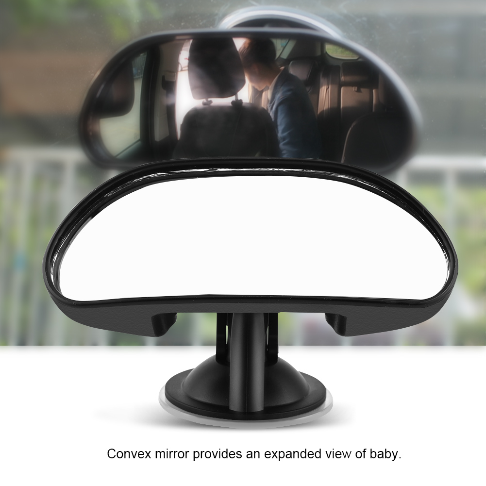1Pc Adjustable Car Baby Child Back Seat Rear View Safety Mirror With Suction Cup Black, Baby Rear View Mirror,... by Filfeel