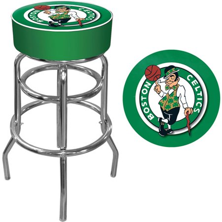 Trademark Global NBA Boston Celtics 31u0022 Padded Swivel Bar Stool