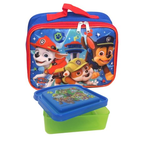 Boys Paw Patrol Lookout Tower Lunch Bag & Sandwich Container 2 Piece