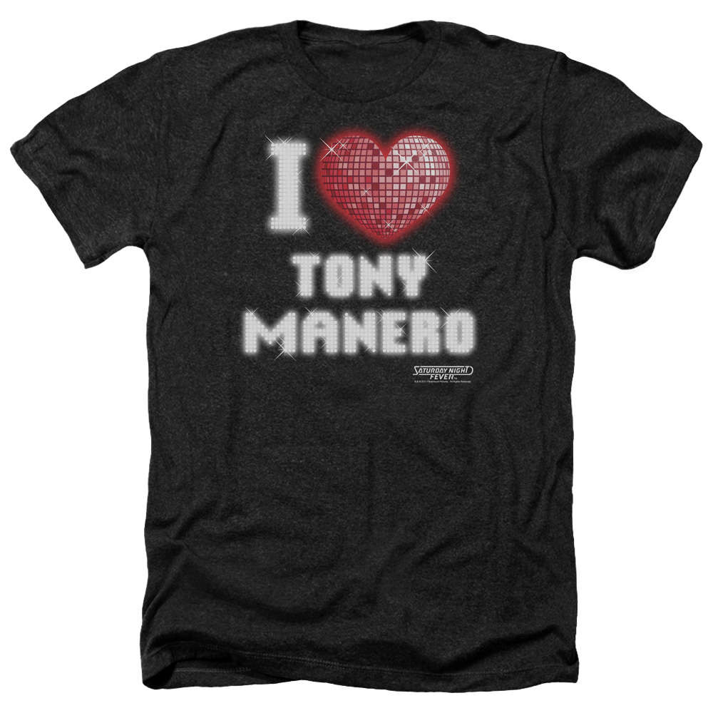 Saturday Night Fever I Heart Tony Mens Heather Shirt