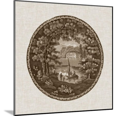 Transferware Wood (Sepia Transferware IV Wood Mounted Print Wall Art By Vision)