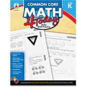 Carson-Dellosa, CDP104589, Gr K Common Core Math 4 Today Workbook, 1 Each