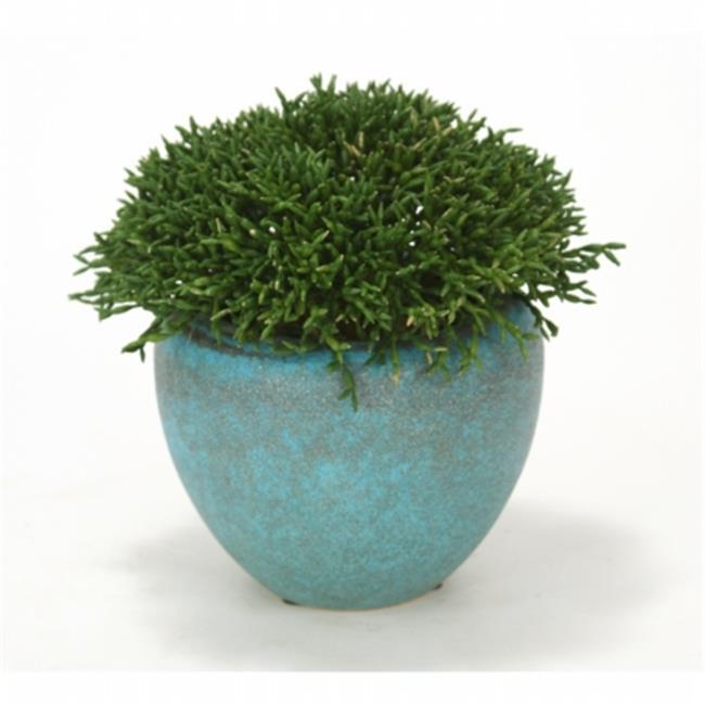 Distinctive Designs 2123 Cedar Pick Ball in Rustic Turquoise Planter