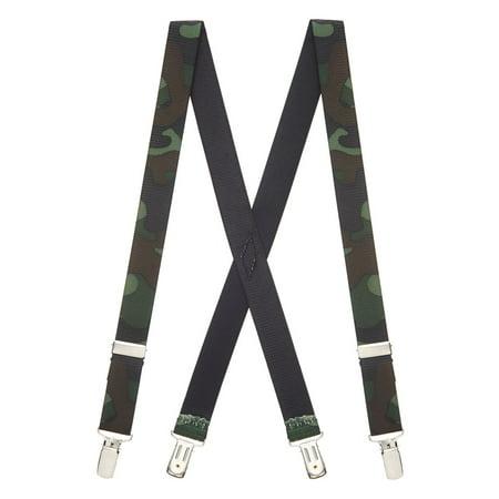 Suspender Store Camo Suspenders for Kids - 1-Inch Wide - Clip Multi ()