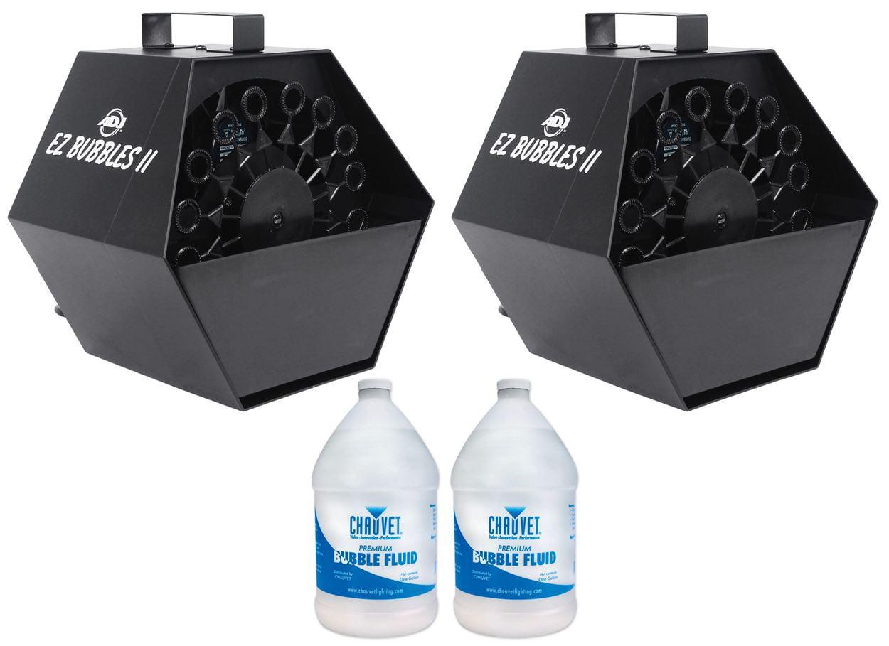 (2) American DJ EZ Bubble II High Output Mini Bubble Machine+2 Gallons BJU Fluid by American DJ