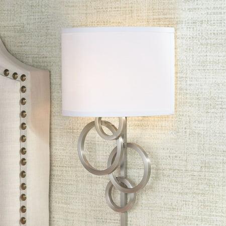 Possini Euro Design Circles Plug-In Wall Sconce Side Bathroom Fixture
