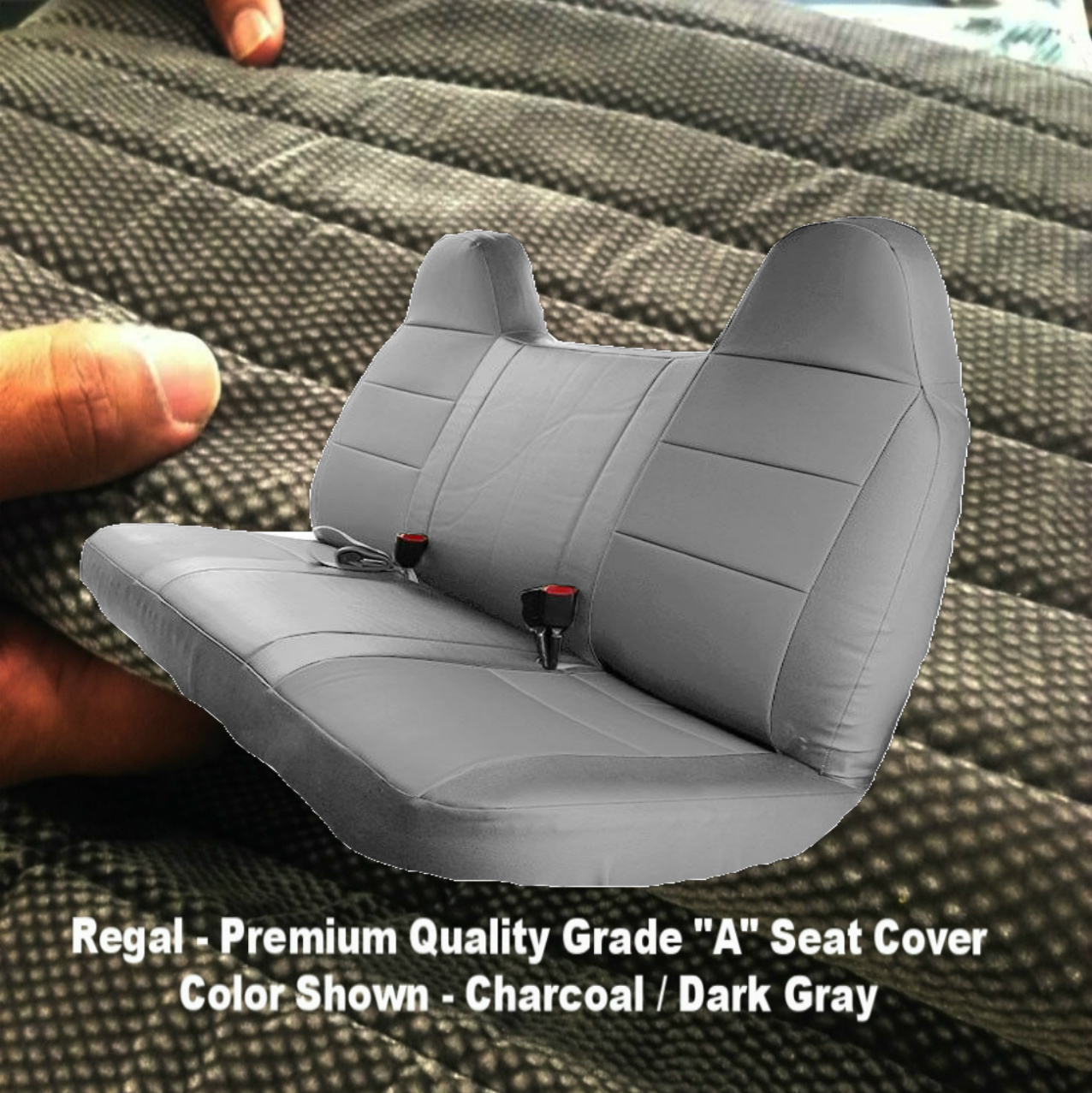1992 - 2010 Ford F-Series F150 F250 F350 F450 F550 Solid Bench Seat Cover Custom Made Fit Muddy Water Camo