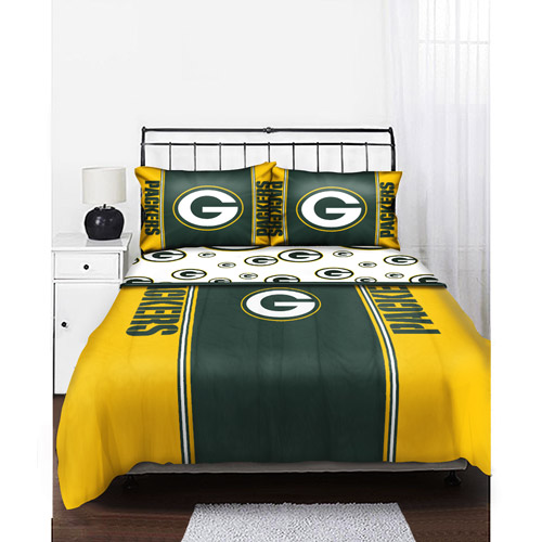 NFL 180-Thread Count Green Bay Packers Sheet Set