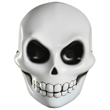Skeleton Skull Grim Reaper Scary Horror Adult Vacuform Halloween Mask](Scary Halloween Face Masks)