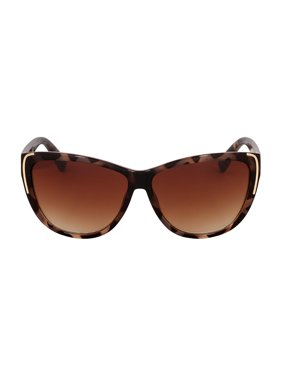 Kenneth Cole Reaction Plastic Frame Gradient Brown Lens Ladies Sunglasses KC12536052F