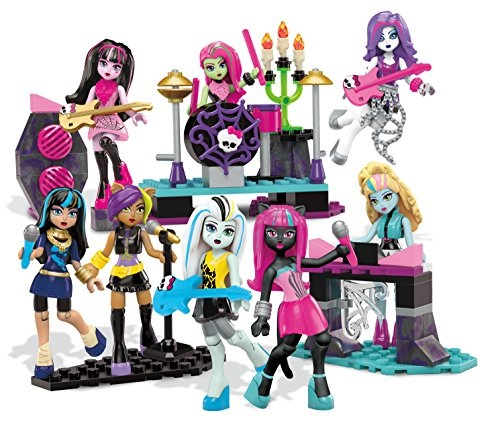 Mega Bloks Monster High Glam Ghoul Band Building Kit by Mega Bloks