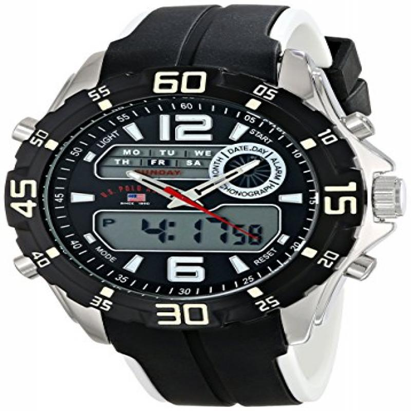 U.S. POLO ASSN Sport Men's US9469 Analog-Digital Display Analog Quartz Black Watch