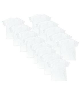 Hanes Boys Undershirts, 10 + 3 Bonus Pack Eco White Crew Neck Undershirts Sizes S - XL