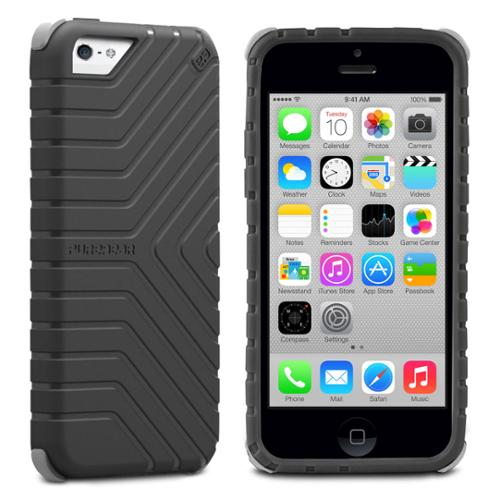 PureGear GripTek Advanced Impact Rubberized Protection for iPhone 5C, Black