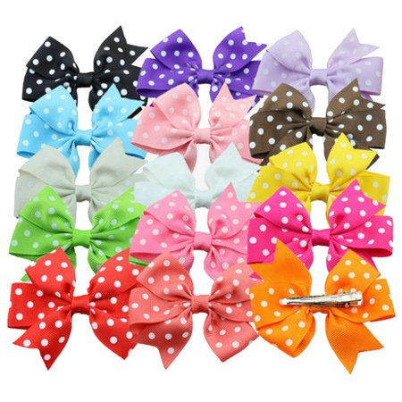 Fascigirl 15 Pieces 3 inches Baby Girls Hair Bows Clips Boutique Grosgrain Ribbon Bow Pinwheel Barrettes For Babies Kids Toddlers Teens Gifts - Boutique For Children