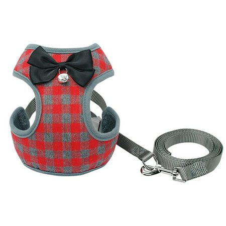 Dog Harness Leash Set Pet Cat Vest Harness with Bowknot for Small Puppy Dogs Chihuahua Yorkies