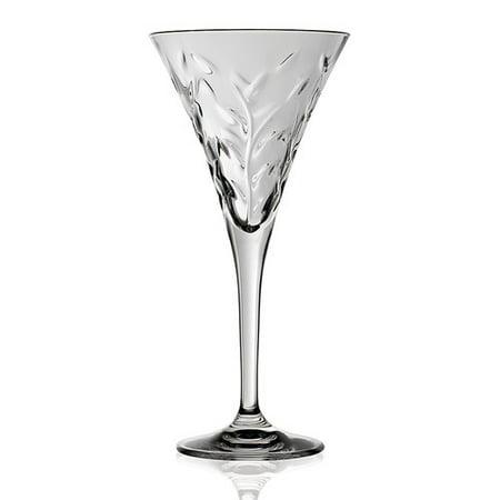 Lorren Home Trends Laurus 6 oz. Crystal Flute (Set of 6) ()