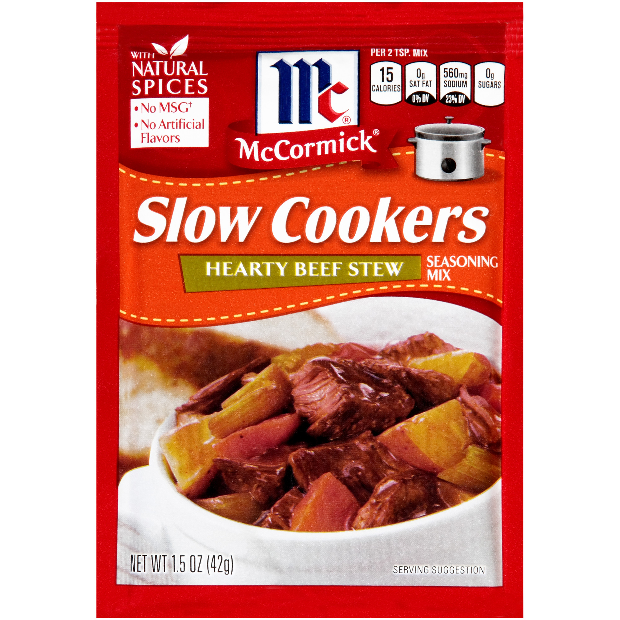 (4 Pack) McCormick Slow Cookers Hearty Beef Stew Seasoning Mix, 1.5 oz