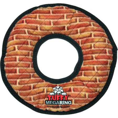 VIP Products Tuffy Mega Ring Dog Toy, Brick