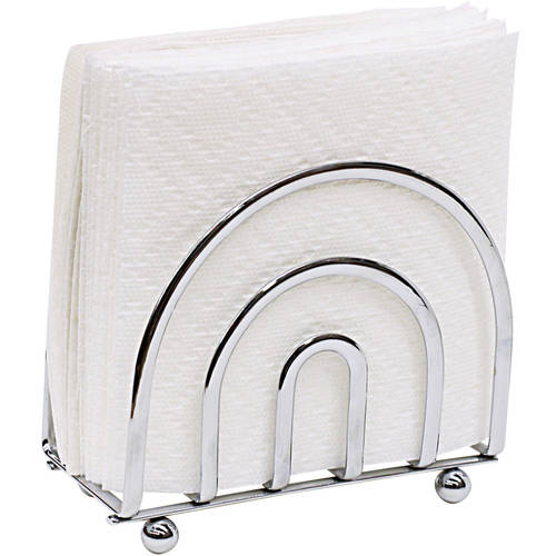 Home Basics Napkin Holder, Flat Wire, Chrome