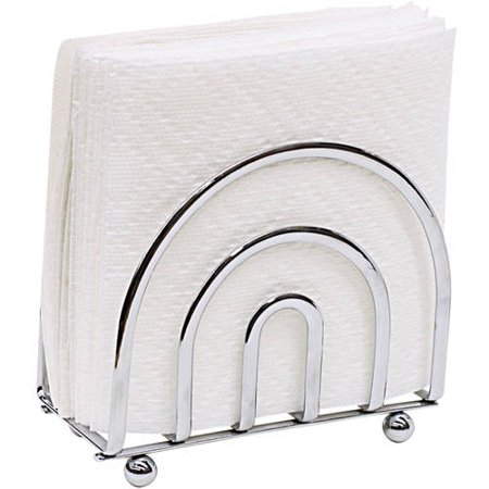 Home Basics Satin Nickel Napkin Holder (Diamond Ring Napkin Holders)