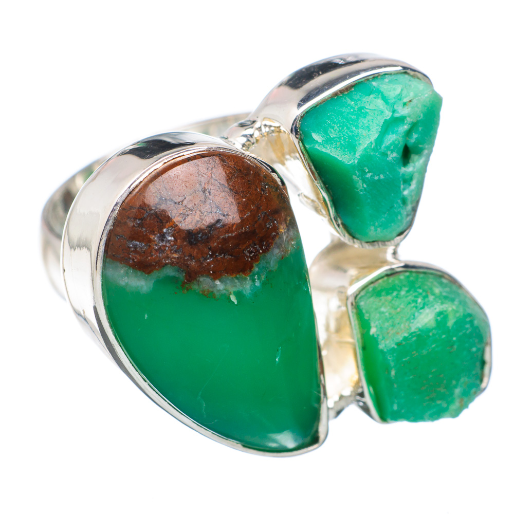 Ana Silver Co Boulder Chrysoprase Ring Size 6.75 (925 Sterling Silver) Handmade Jewelry RING884459 by Ana Silver Co.