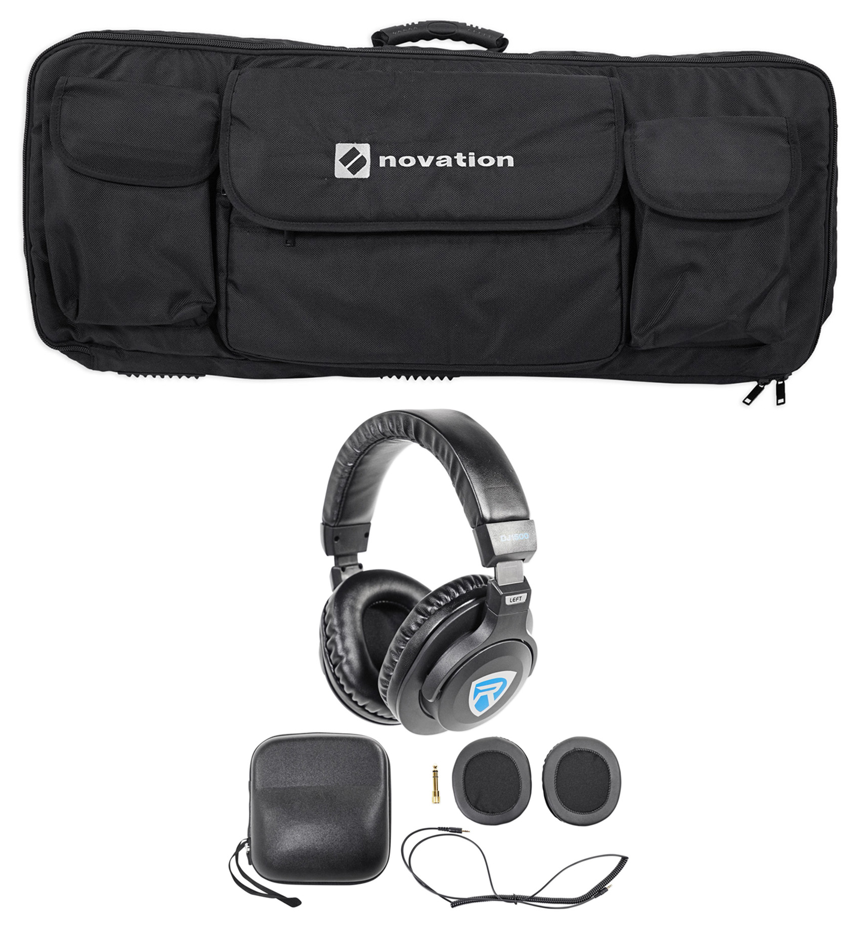 Novation 49-Key Case Soft Carry Bag For Launchkey 49 MIDI Controller+Headphones by Novation