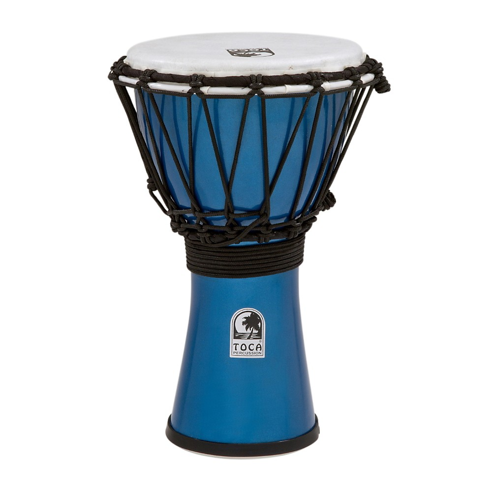 Toca Freestyle ColorSound Djembe Metallic Blue 7 in. by Toca