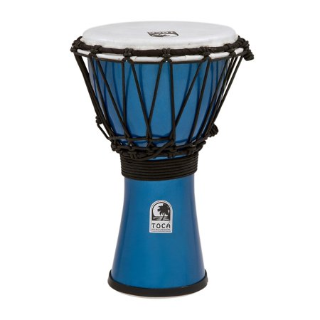 Toca Freestyle ColorSound Djembe Metallic Blue 7 in.