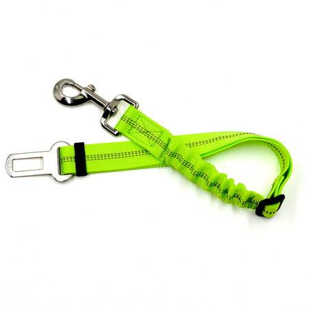 Extension-type Pet Car Seat Belt Adjustable Dog Cat Reflective Safety Traction Belt Leash green (Best Type Of Dog Leash)