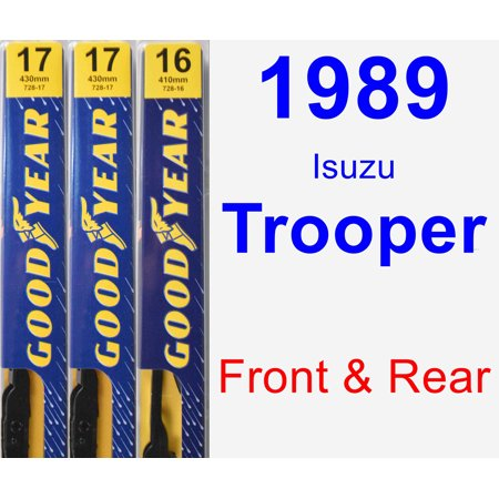 1989 Isuzu Trooper Wiper Blade Set/Kit (Front & Rear) (3 Blades) -